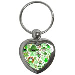 St Patrick s Day Collage Key Chain (Heart)