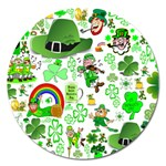 St Patrick s Day Collage Magnet 5  (Round)