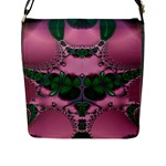 Lucky Clovers Spring In Pink Queen 2 Flap Closure Messenger Bag (Large)