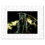 The Grim Reaper and Lightning Storm Jigsaw Puzzle (Rectangular)