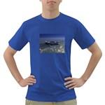 Skeleton Castaway and Shark Fantasy Dark T-Shirt