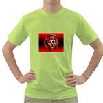Red Goth Dragon Skull Green T-Shirt