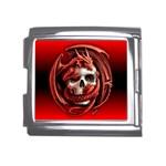 Red Goth Dragon Skull Mega Link Italian Charm (18mm)