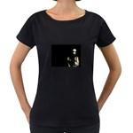 Bleeding Heart of a Woman Maternity Black T-Shirt