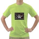 Pirate Flag Skull and Treasure Map Green T-Shirt
