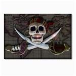 Pirate Flag Skull and Treasure Map Postcard 4 x 6  (Pkg of 10)