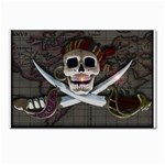 Pirate Flag Skull and Treasure Map Postcards 5  x 7  (Pkg of 10)