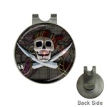 Pirate Flag Skull and Treasure Map Golf Ball Marker Hat Clip