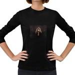 Goth Angel Women s Long Sleeve Dark T-Shirt