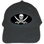 Pirate Flag Skull and Bones Black Cap