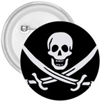 Pirate Flag Skull and Bones 3  Button