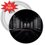 3-D Gothic Fantasy Cathedral 3  Button (10 pack)