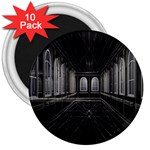 3-D Gothic Fantasy Cathedral 3  Magnet (10 pack)