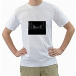 3-D Gothic Fantasy Cathedral White T-Shirt