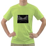 3-D Gothic Fantasy Cathedral Green T-Shirt