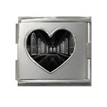 3-D Gothic Fantasy Cathedral Mega Link Heart Italian Charm (18mm)