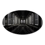 3-D Gothic Fantasy Cathedral Magnet (Oval)