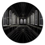3-D Gothic Fantasy Cathedral Magnet 5  (Round)