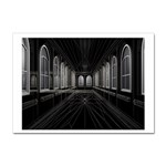 3-D Gothic Fantasy Cathedral Sticker A4 (10 pack)