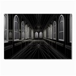 3-D Gothic Fantasy Cathedral Postcard 4  x 6