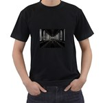 3-D Gothic Fantasy Cathedral Black T-Shirt