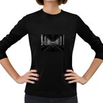 3-D Gothic Fantasy Cathedral Women s Long Sleeve Dark T-Shirt