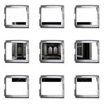 3-D Gothic Fantasy Cathedral Mega Link Italian Charm (9 pack)