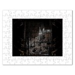Dark Futuristic Fantasy City Jigsaw Puzzle (Rectangular)