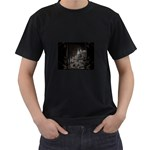 Dark Futuristic Fantasy City Black T-Shirt