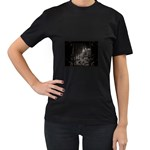 Dark Futuristic Fantasy City Women s Black T-Shirt