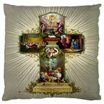 Easter Cross Large Cushion Case (Two Sides)