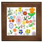 Summer Florals Framed Ceramic Tile