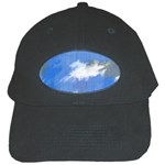 Abstract Clouds Black Baseball Cap