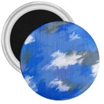 Abstract Clouds 3  Button Magnet
