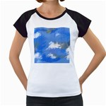 Abstract Clouds Women s Cap Sleeve T-Shirt (White)