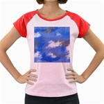 Abstract Clouds Women s Cap Sleeve T-Shirt (Colored)