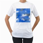 Abstract Clouds Women s Two-sided T-shirt (White)