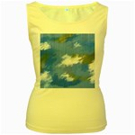 Abstract Clouds Women s Tank Top (Yellow)