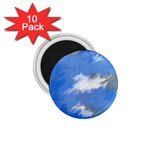 Abstract Clouds 1.75  Button Magnet (10 pack)