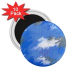Abstract Clouds 2.25  Button Magnet (10 pack)