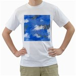 Abstract Clouds Men s Two-sided T-shirt (White)
