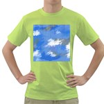 Abstract Clouds Men s T-shirt (Green)