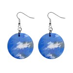Abstract Clouds Mini Button Earrings