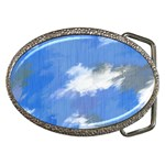 Abstract Clouds Belt Buckle (Oval)
