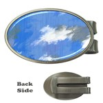 Abstract Clouds Money Clip (Oval)
