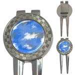 Abstract Clouds Golf Pitchfork & Ball Marker