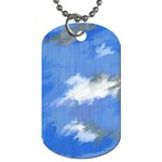 Abstract Clouds Dog Tag (One Sided)