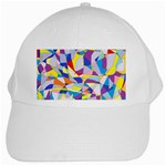 Fractured Facade White Baseball Cap