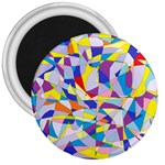 Fractured Facade 3  Button Magnet