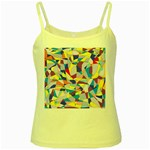 Fractured Facade Yellow Spaghetti Tank